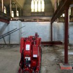 Crane at Ukrainian Church building Rehab