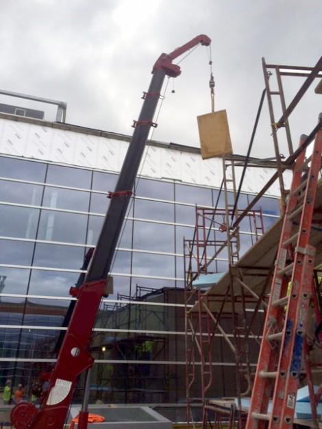 Spydercranes for college campus construction