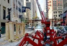Chicago Loop Link construction – bus terminal
