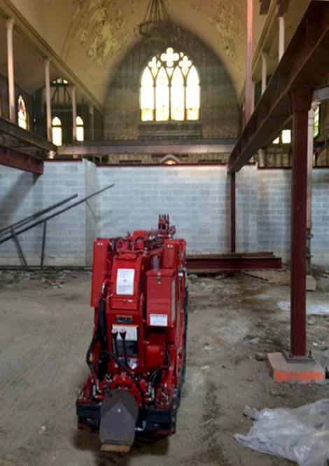 Crane at Ukrainian Church building Rehab
